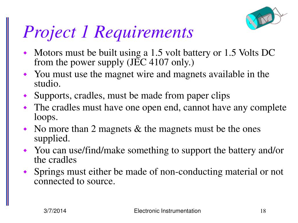 Project 1 Requirements