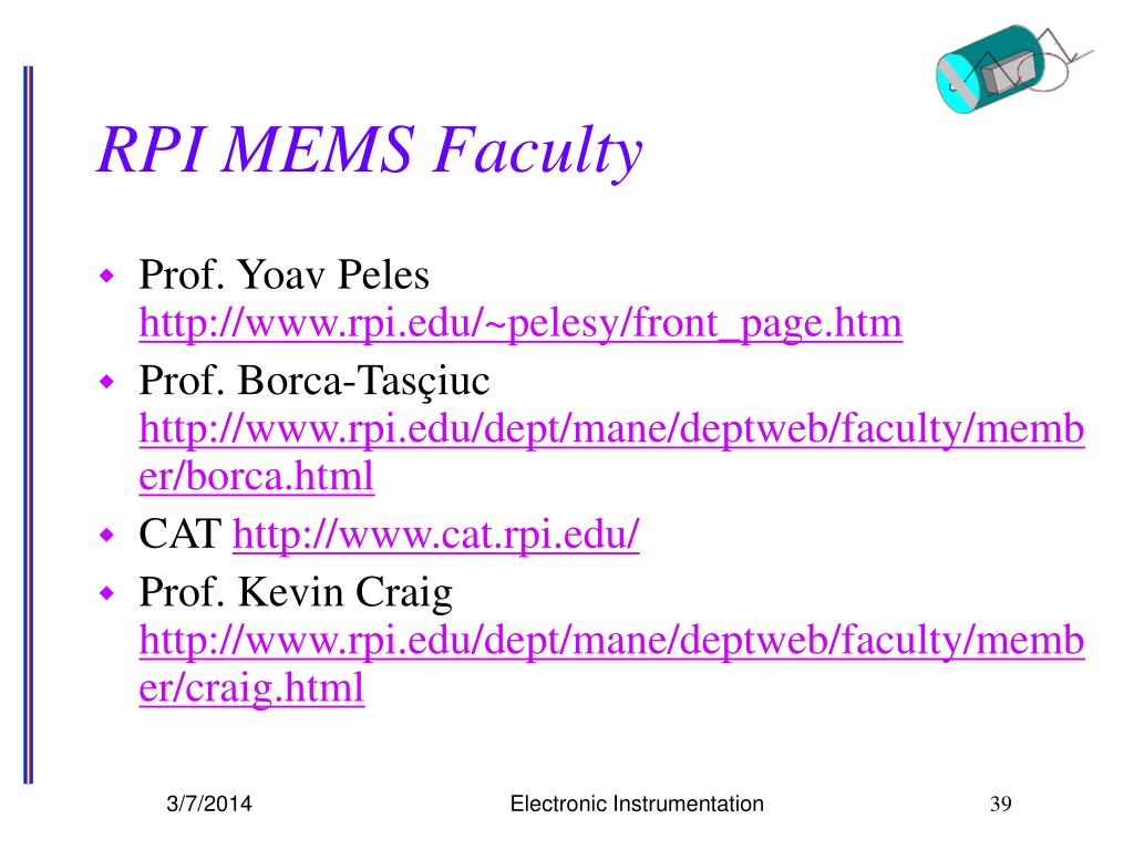 RPI MEMS Faculty