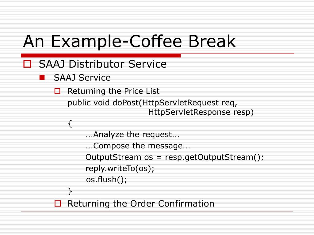 An Example-Coffee Break