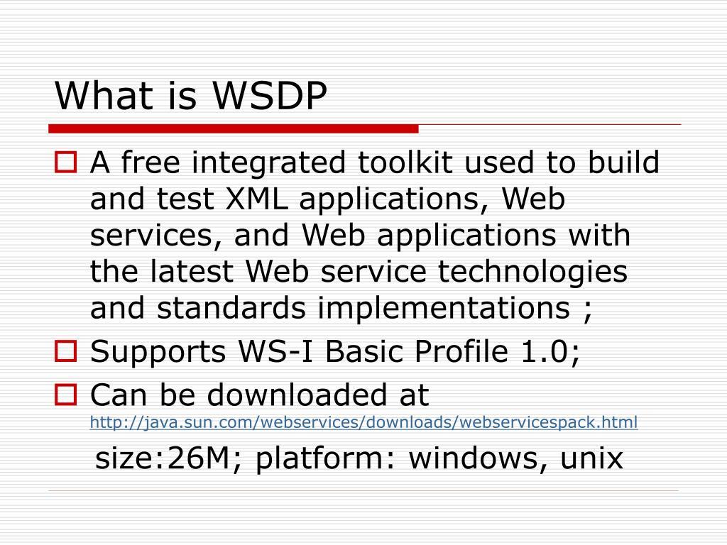 What is WSDP