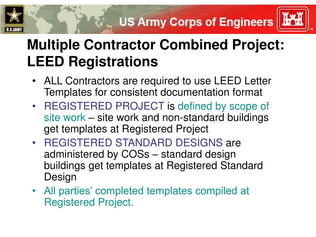 leed letter template - ppt leed during construction powerpoint presentation