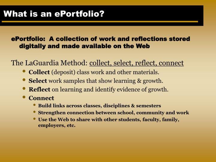 Ppt Eportfolio Laguardia Community College Collect