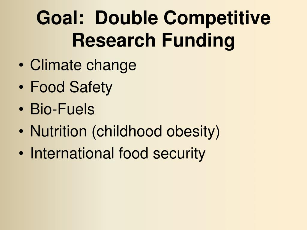 Goal:  Double Competitive Research Funding