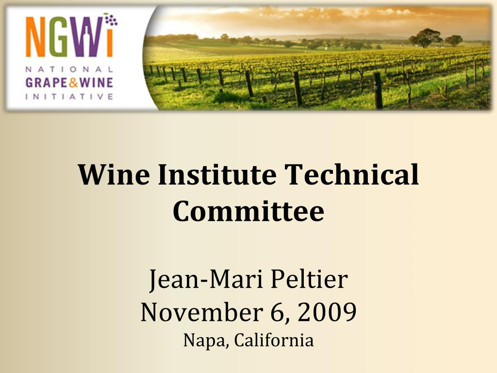 Wine Institute Technical Committee