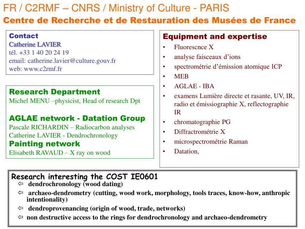 FR / C2RMF – CNRS / Ministry of Culture - PARIS