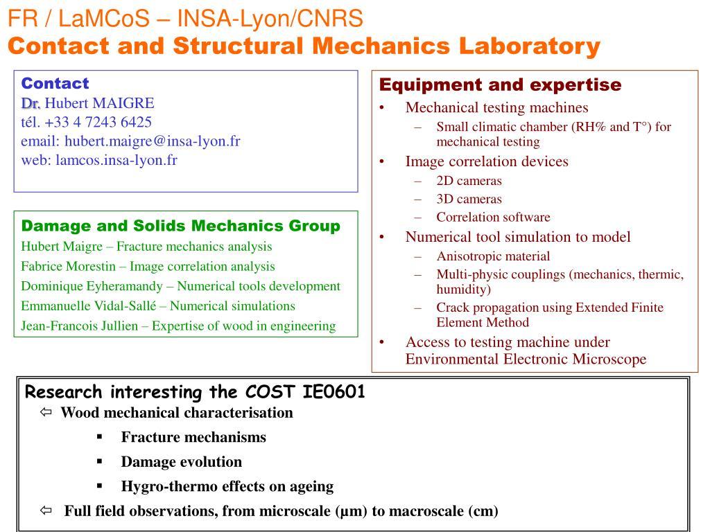FR / LaMCoS – INSA-Lyon/CNRS
