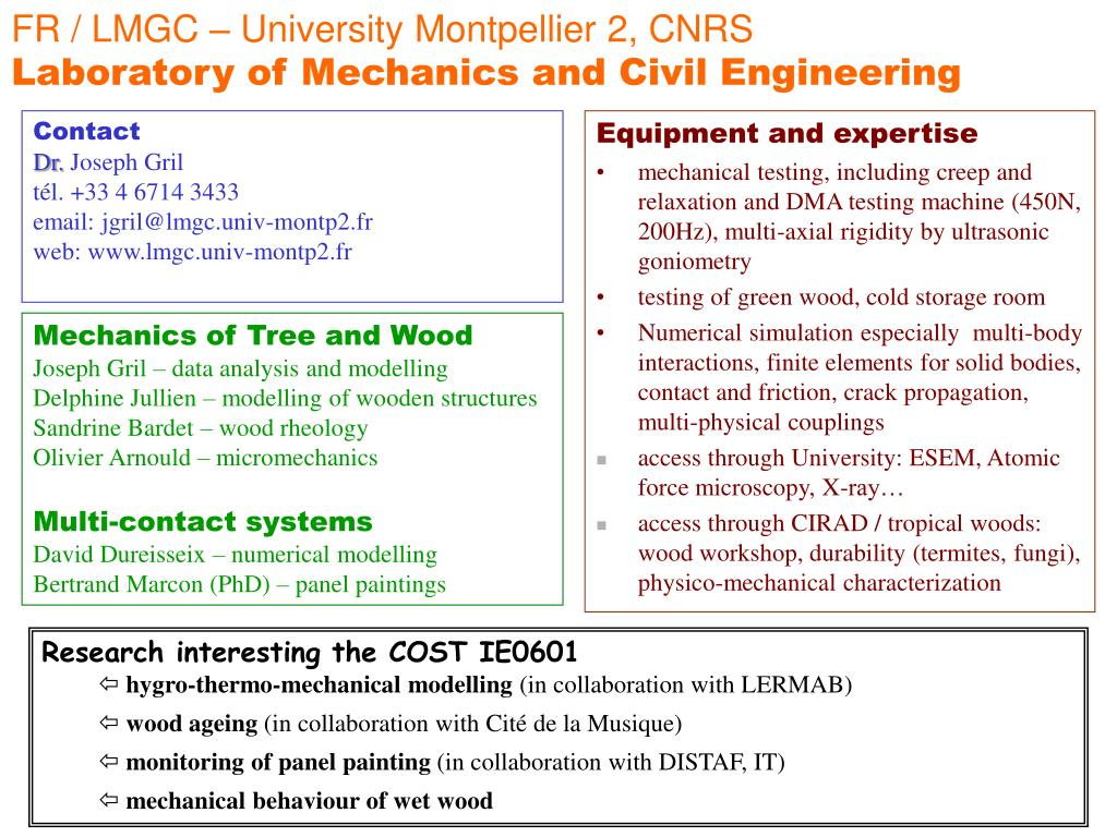FR / LMGC – University Montpellier 2, CNRS