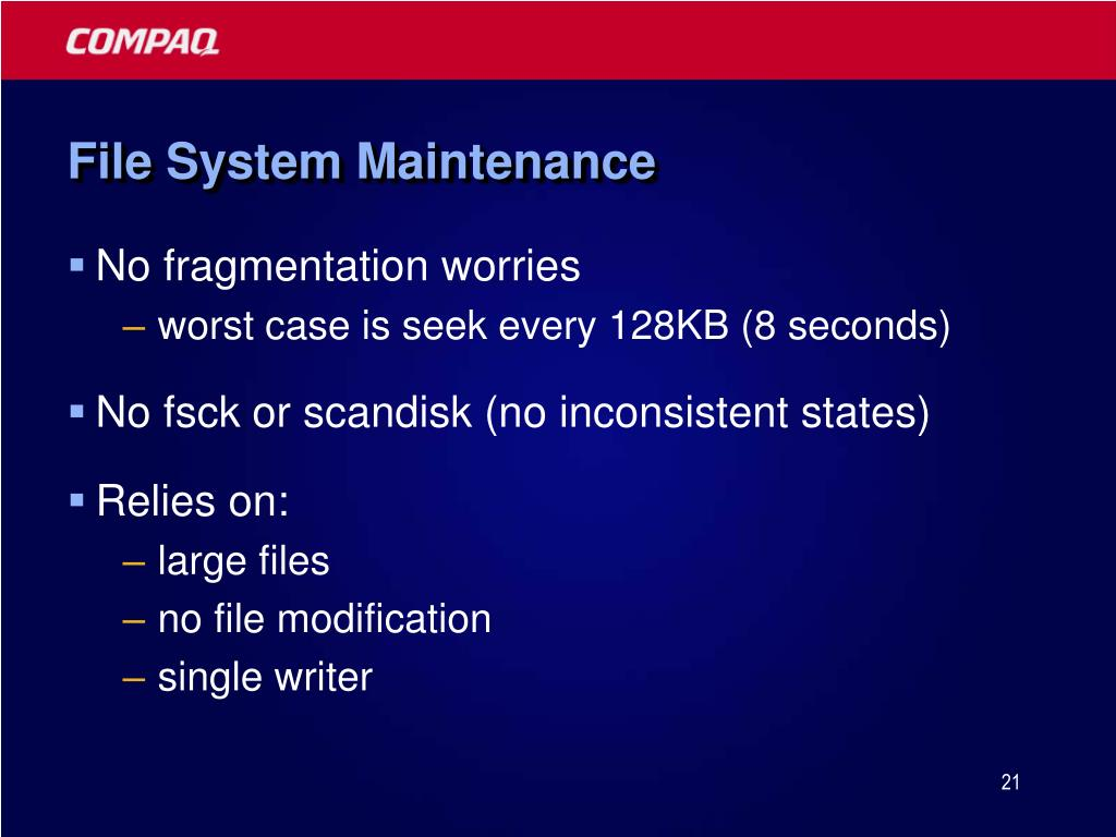File System Maintenance