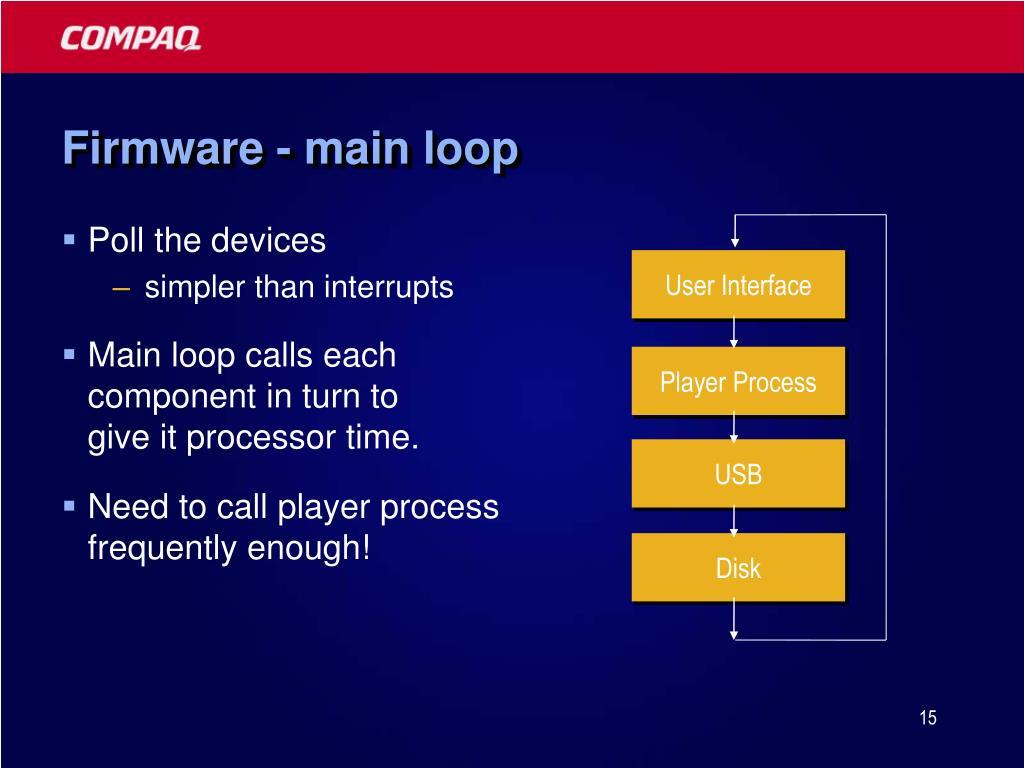 Firmware - main loop