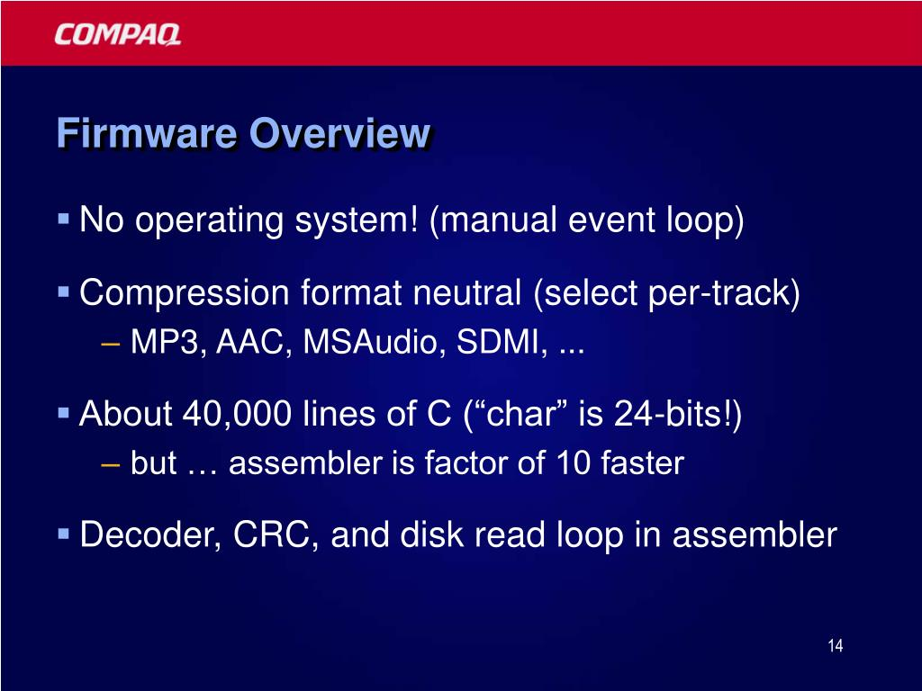 Firmware Overview