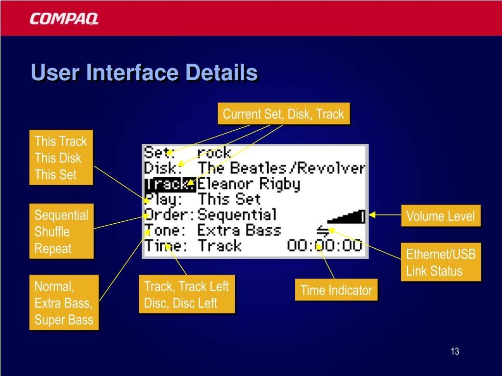 User Interface Details