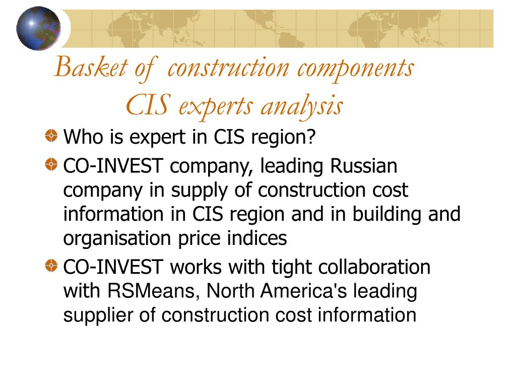 Basket of construction components