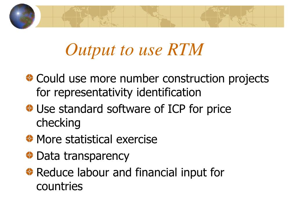 Output to use RTM