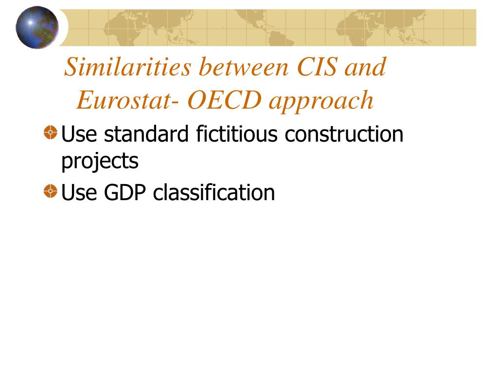 Similarities between CIS and Eurostat- OECD approach