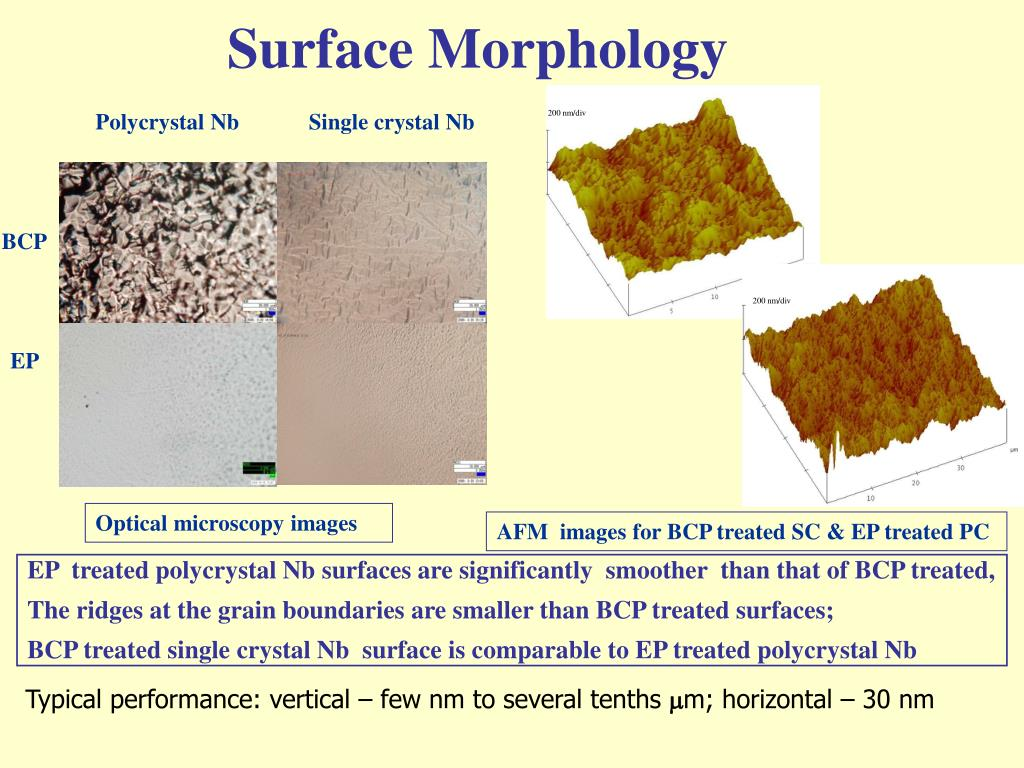 Surface Morphology