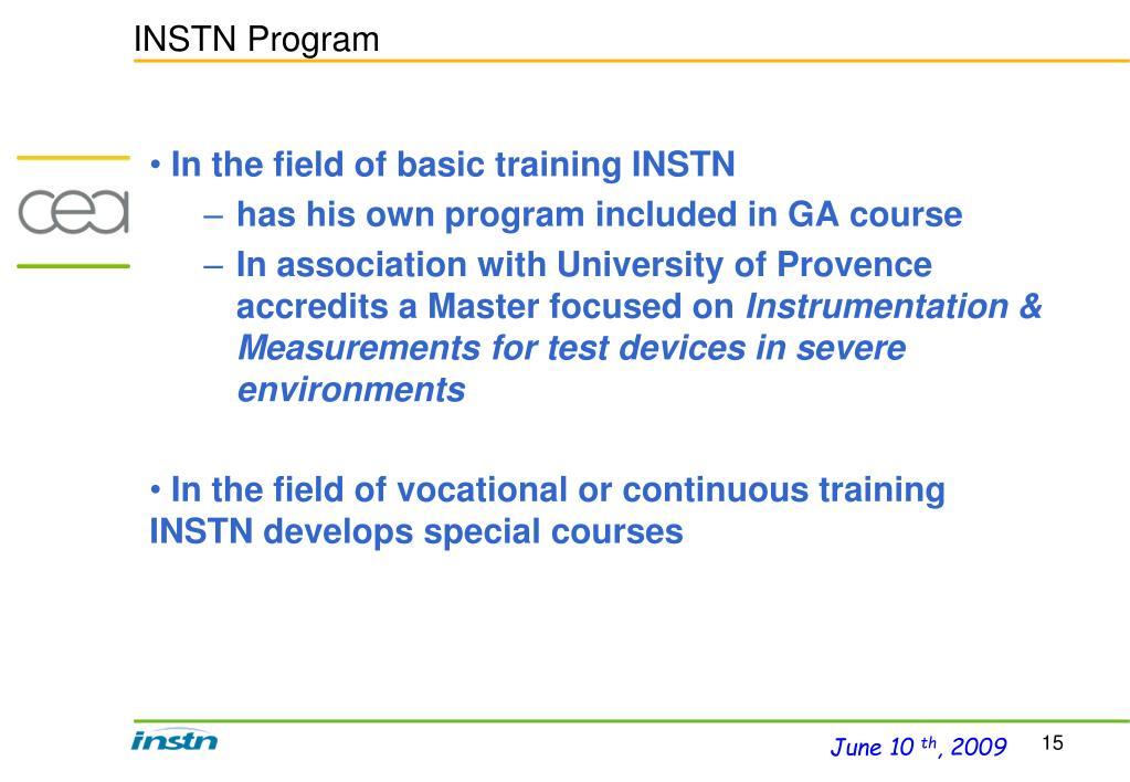 INSTN Program
