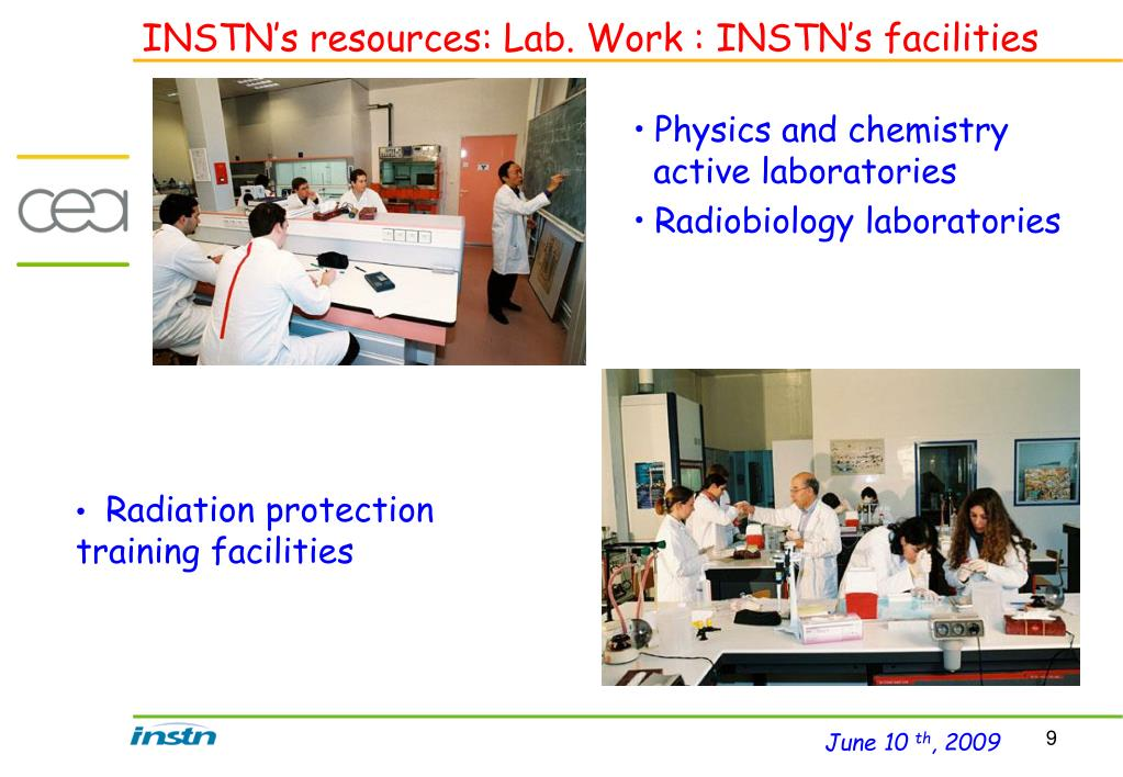 INSTN's resources: Lab. Work : INSTN's facilities