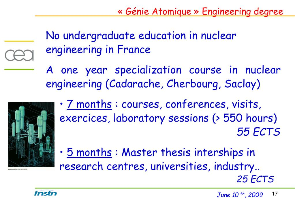 « Génie Atomique » Engineering degree