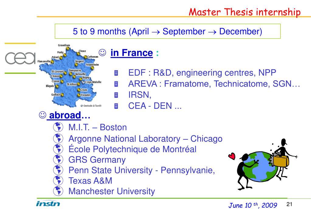 Master Thesis internship