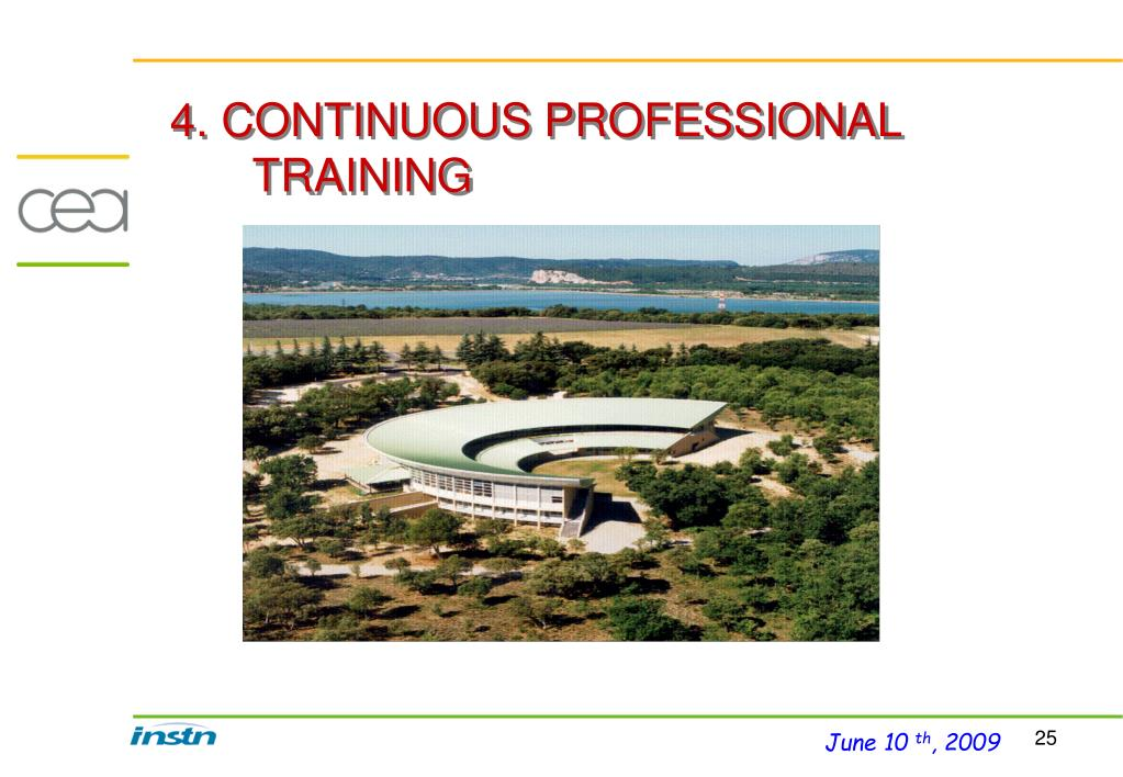 4. CONTINUOUS PROFESSIONAL TRAINING