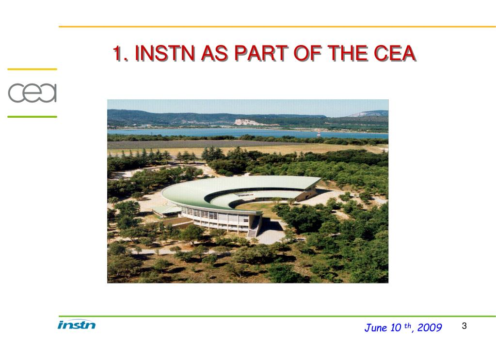 1. INSTN AS PART OF THE CEA