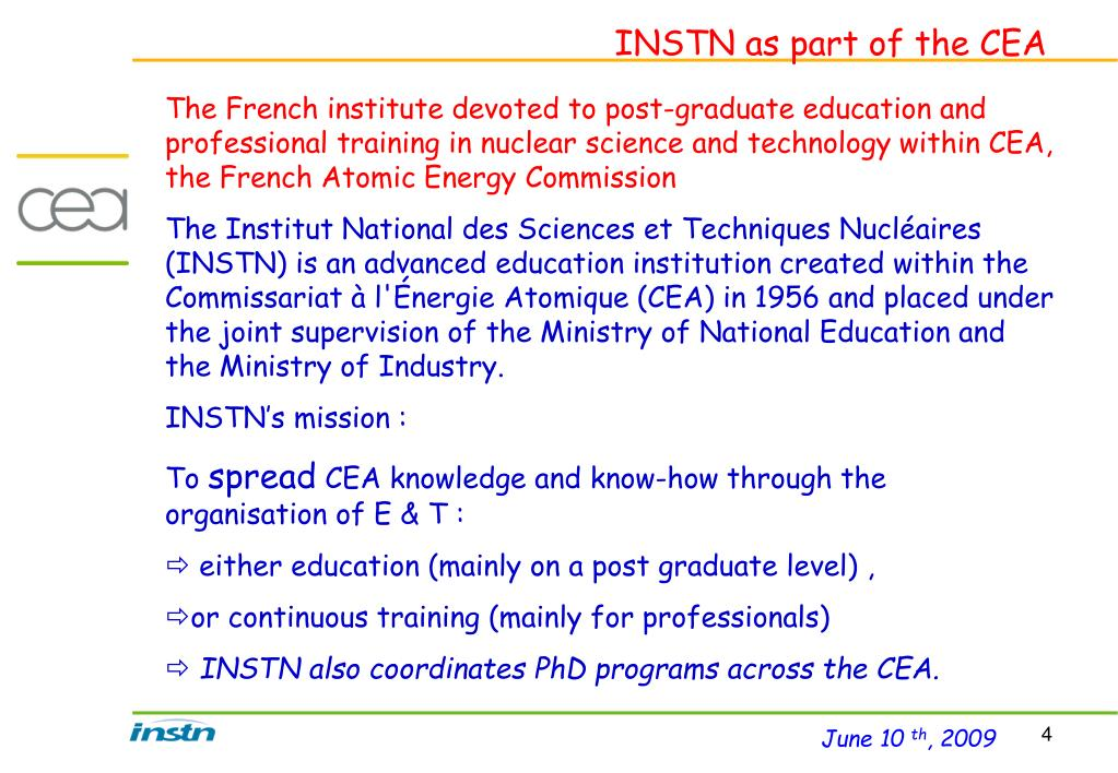 INSTN as part of the CEA