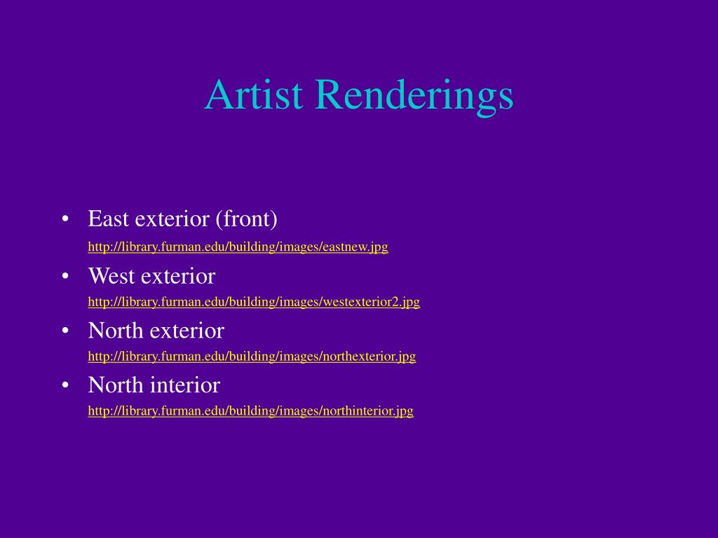 Artist Renderings