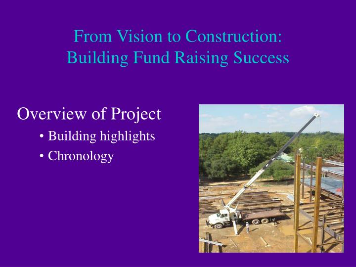 From vision to construction building fund raising success3