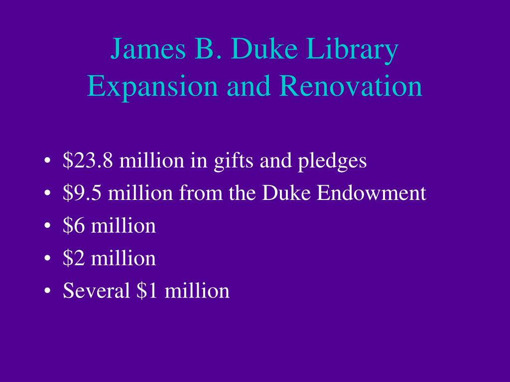 James B. Duke Library