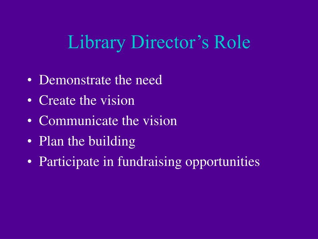 Library Director's Role