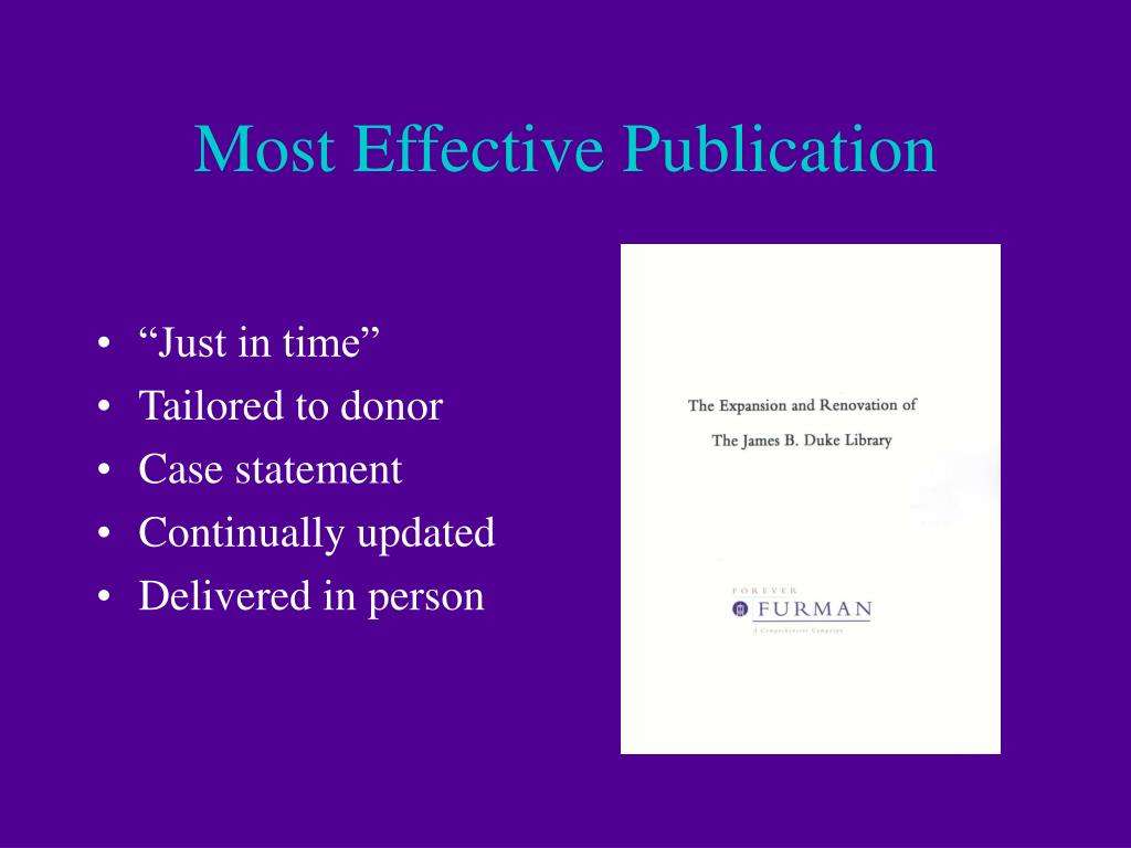 Most Effective Publication