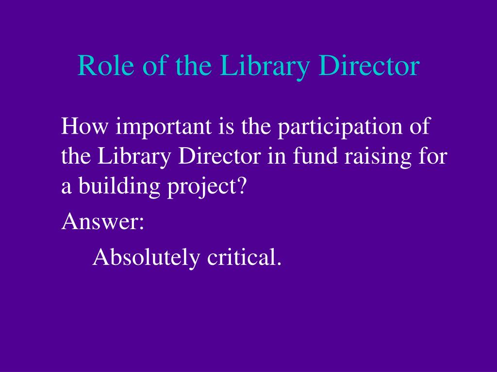 Role of the Library Director