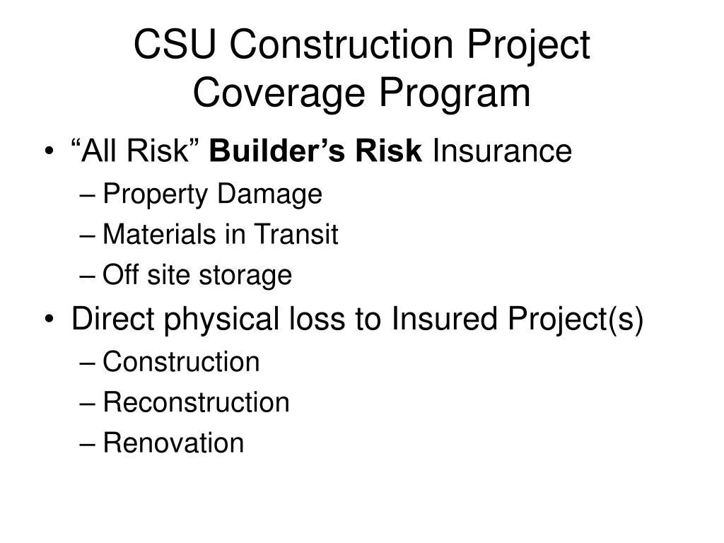 CSU Construction Project