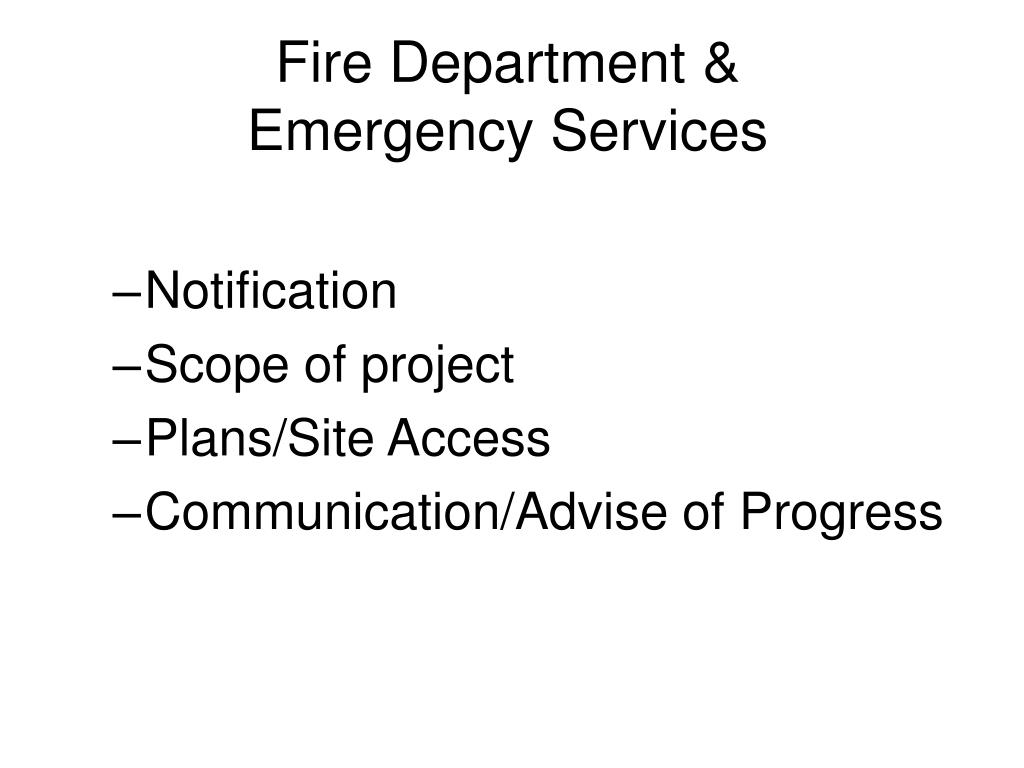 Fire Department & Emergency Services
