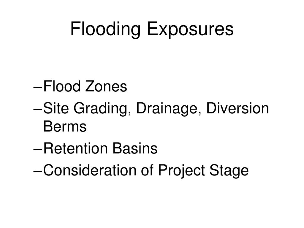 Flooding Exposures