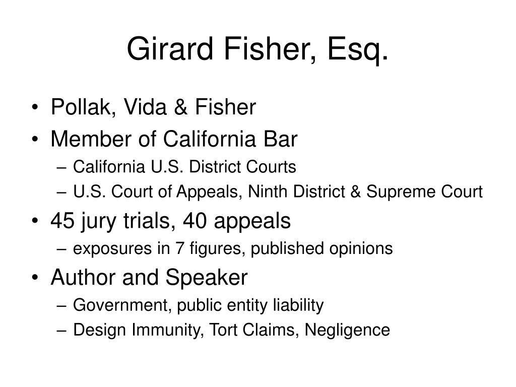 Girard Fisher, Esq.