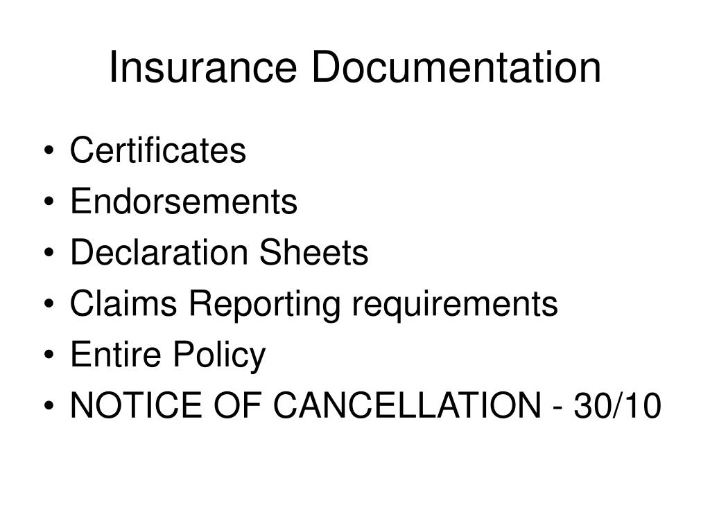 Insurance Documentation