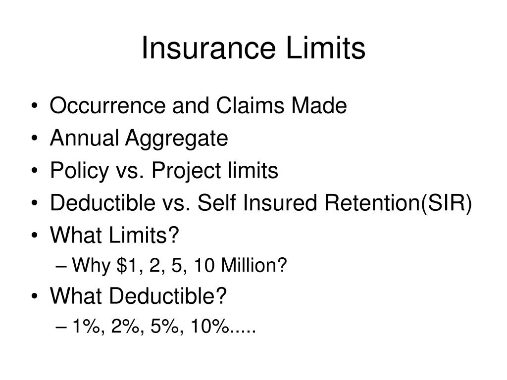 Insurance Limits