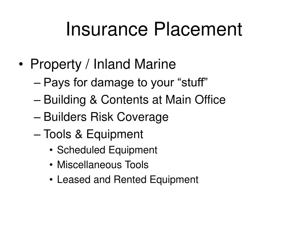 Insurance Placement