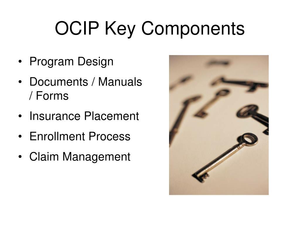 OCIP Key Components