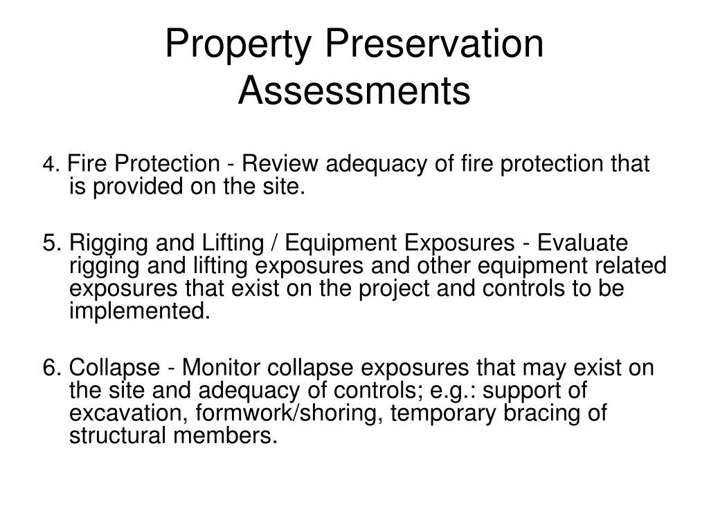 Property Preservation Assessments