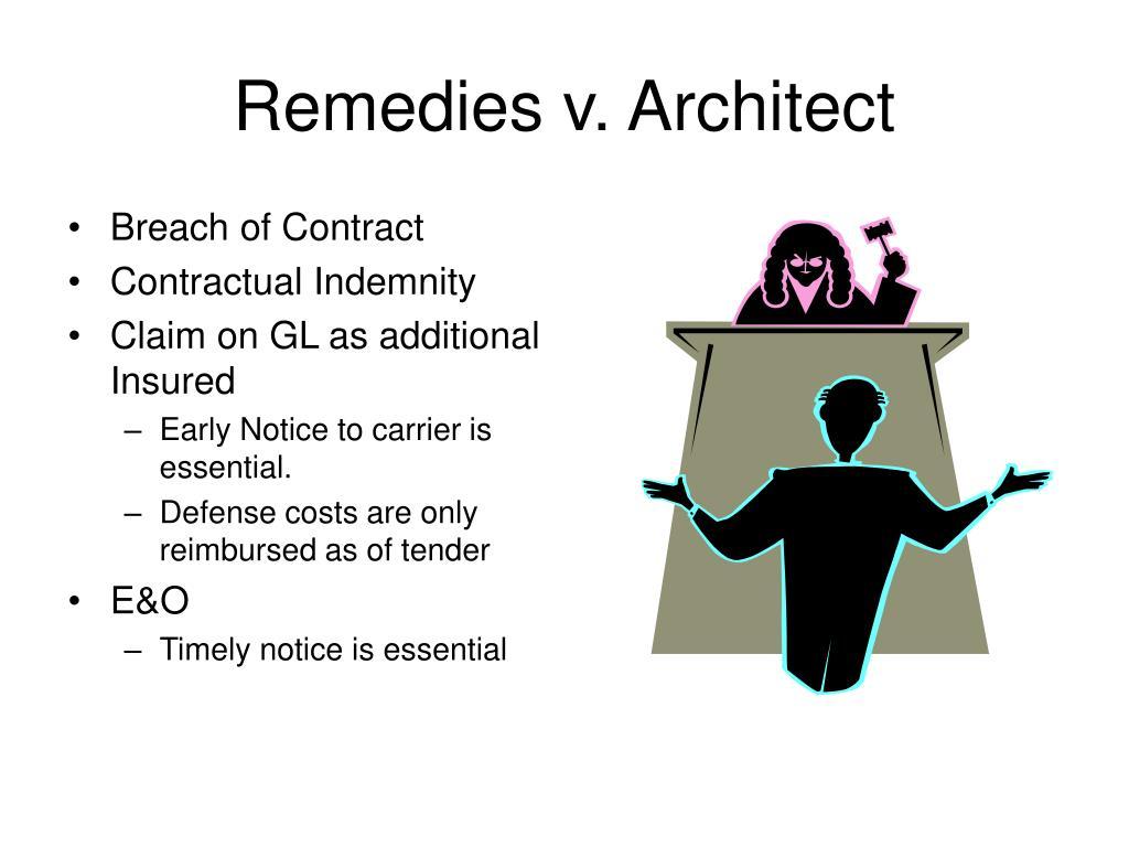 Remedies v. Architect