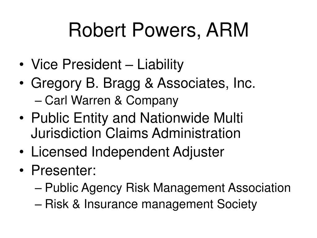 Robert Powers, ARM
