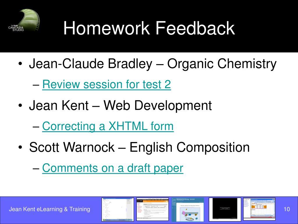 Homework Feedback