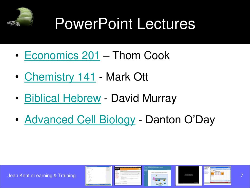 PowerPoint Lectures