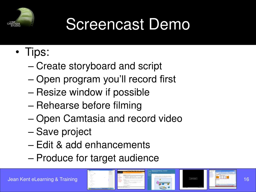 Screencast Demo
