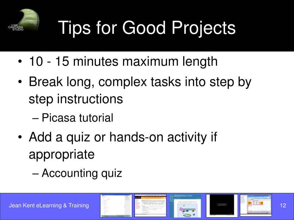 Tips for Good Projects