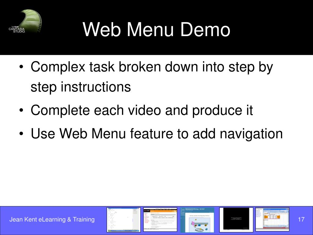 Web Menu Demo