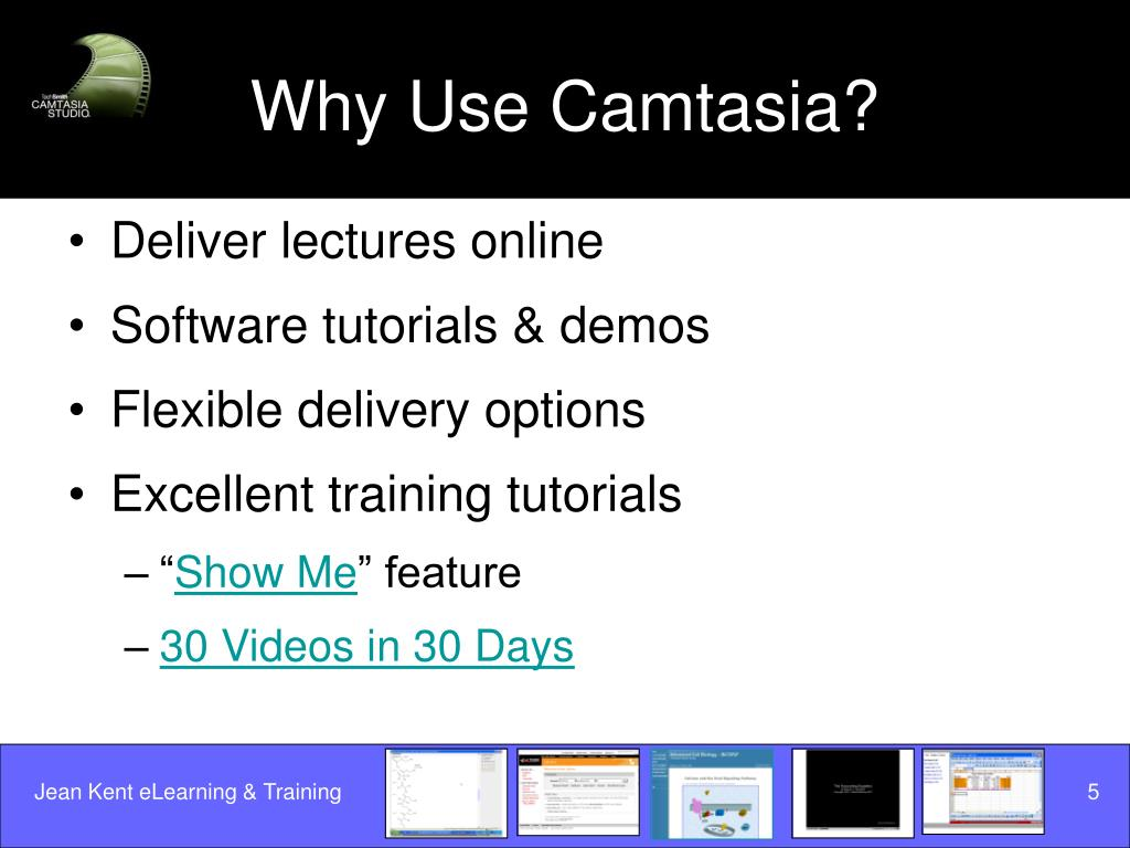 Why Use Camtasia?