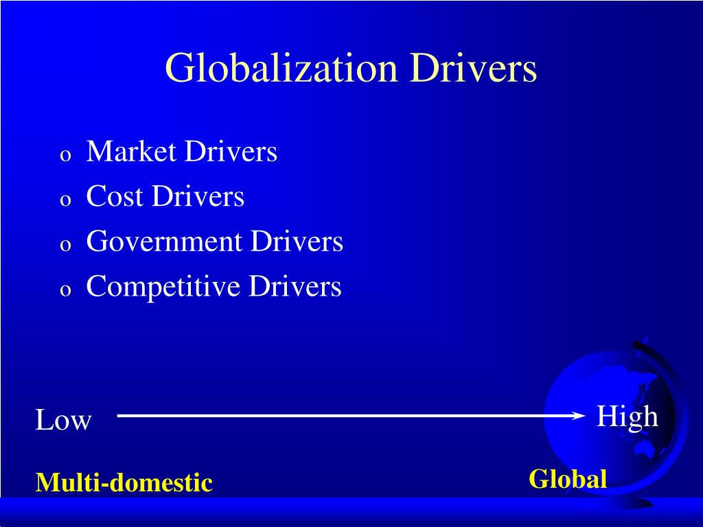 globalization drivers 2 globalization: drivers and effects 21 simplified version of the  theory of comparative advantage david ricardo, an eighteenth-century english .